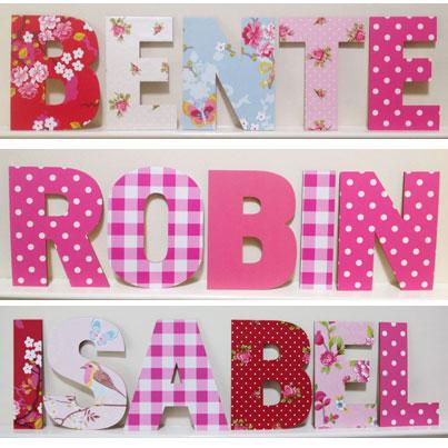 houten letters voor de kinderkamer, Deco ideeën