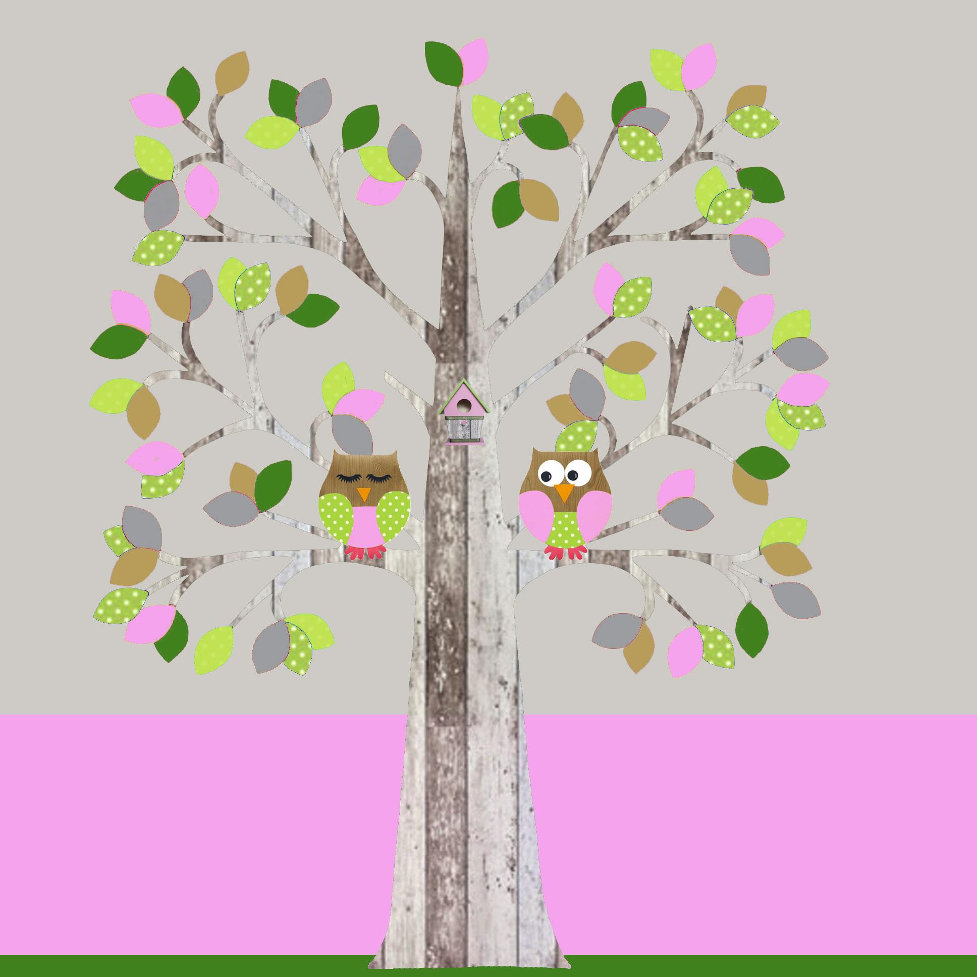 behangboom-A-sloophout-roze-met-uilen