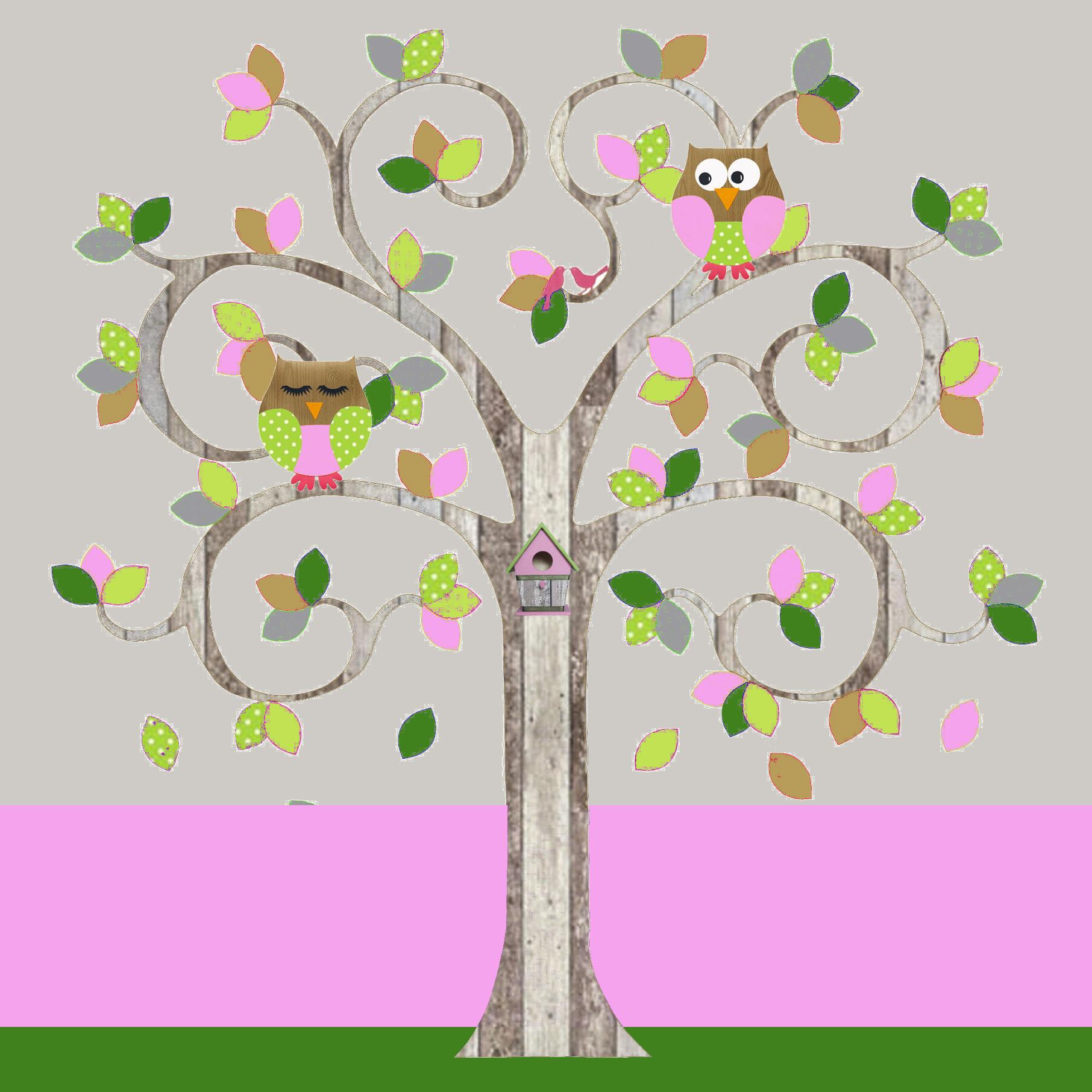 behangboom-C-sloophout-roze-met-uilen