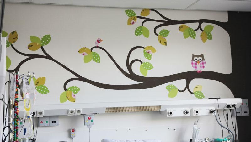 Behang Boom Kinderkamer : Behangboom op maat